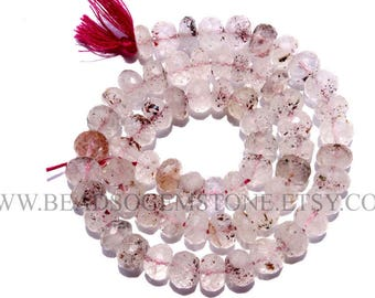 A Quality Lepidochrosite Quartz Faceted Rondelle, (7.50 to 8.50), LE-010, Semiprecious Gemstone Beads, Craft Supplies For Jewelry Making