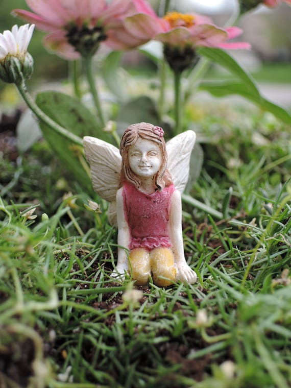 "Itty Bitty Bell Fairy (1.5"" Tall) for the Fairy Garden"