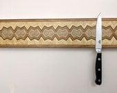 Magnetic Knife Rack, Wall Mounted Knife Holder,  Magnetic Knife Holder, Wooden Knife Organizer, Kitchen Accessory, Handmade  #1