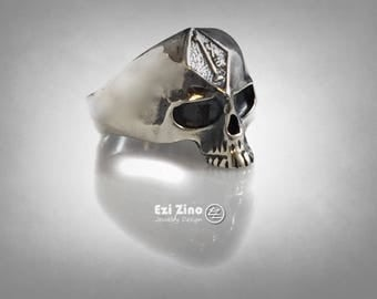 Ezi Zino HARLEY 1% ER OUTLAW Skull   Sterling Silver Biker Ring All Size