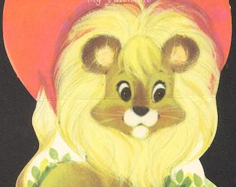 Valentine Card Vintage Lion - No Lion I Want You for My Valentine