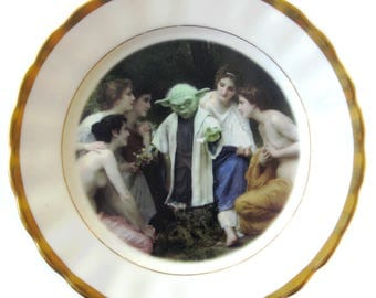 """Yoda and the Nymphs Portrait Plate 6.5"""""""