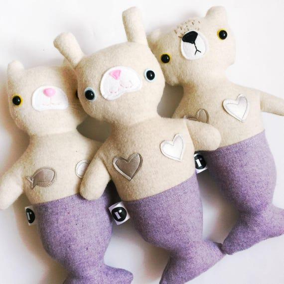 Bunny Furrmaid in Cream Wool - READY TO SHIP