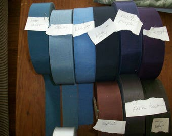 Vintage cotton and rayon 1 1/2 inch petersham ribbon