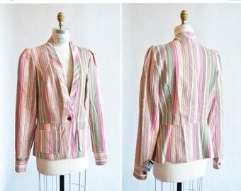 25% off Storewide // Vintage CHRISTIAN LACROIX linen jacket