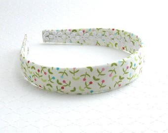 Girls / Adults Fabric Headband ~ Plastic Fabric Covered Headband ~ Floral Headband ~ Hard Headband for Girls & Women