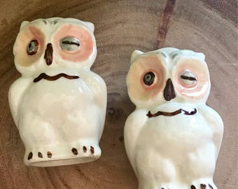 Vintage Winking Owl Salt & Pepper Shakers / Kitschy / Collectables