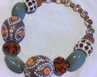 BREATHE--FunkyChunky inspirational bracelet
