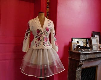 Retro dress white TULLE PETTICOAT