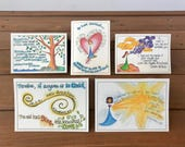 Scripture Cards - Belonging, Set 3 - Note Card Set, Bible Verse Cards, Christian Gifts, Religious Gifts - Assorted Note Card Set of 5