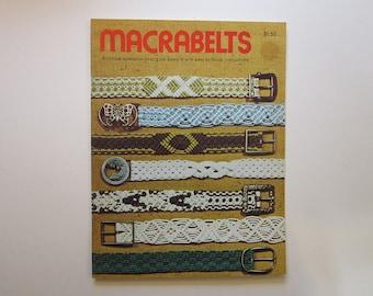 vintage MACRAME book - MACRABELTS - macrame belt book - 1976