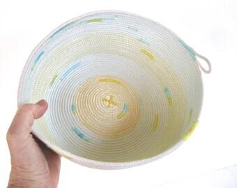 Rope Coiled Basket - Organizing Storage Basket - Knitting Bowl - Clothesline Basket - Free Shipping