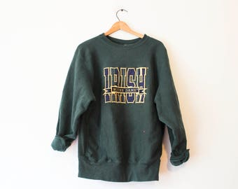 Vintage Green Notre Dame Fighting Irish Sweatshirt