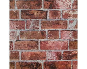 HE1044 Wallpaper  Brick Faux Texture