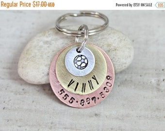 3 Tier / Pet ID Tag / Dog Tag / Key Chain / Personalized / Customized / Silver / Brass / Copper / Designer / Stamped / Handmade A068