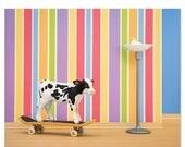 FALL SALE Skateboarding cow animal art print: Goofy Hoof