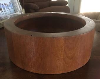 Large Vintage Dansk Teak Bowl Danish