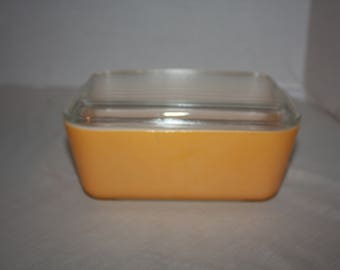 Vintage Pyrex Cirtrus Orange or Yellow Refrigerator Dish