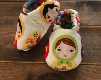 Custom cloth baby shoes - you choose fabric