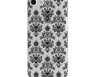 Haunted Mansion Black Wallpaper Clear Disney iPhone Case