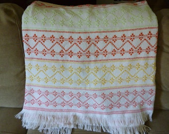 Sherbert swedish weave blanket throw