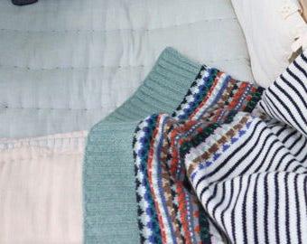 Fairisle Baby Blanket