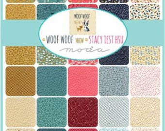 Woof woof meow by Moda Scrap Bag by Stacy Iest Hsu Quilt Fabric Strips Remnants