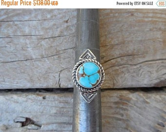 ON SALE Turquoise ring handmade in sterling silver 925 with turquoise from the Royston mine