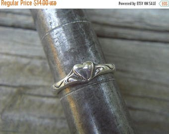 ON SALE Heart ring in sterling silver