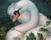 Luna Swan Painting