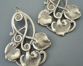 Vintage Earrings - Art Deco Earrings - Statement Earrings - Boho Earrings - Festival Jewelry - Brass Earrings - handmade jewelry
