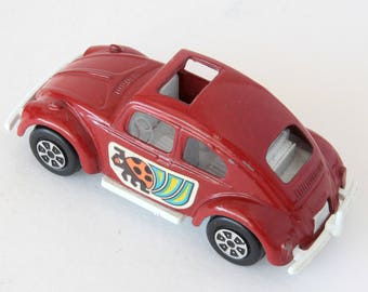 Vintage Red Tootsie Toy Die Cast Volkswagen Beetle
