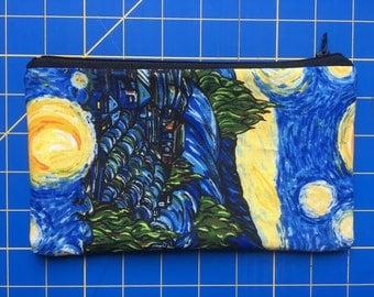 Starry Night Zippered Bag