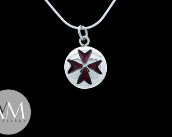 Inlay Maltese Cross Pendant [01]