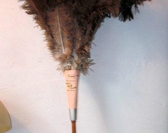 Large Vintage Ostrich Feather Duster