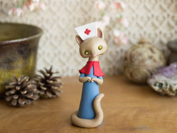 Cat Nurse Figurine by Bonjour Poupette