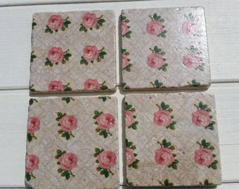 Ditsy Roses Coaster Set of 4 Tea Coffee Beer Coasters