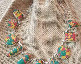 Sterling Silver Jasper necklace