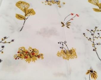 Heather Ross Lightning Bug White Wild Flowers FQ
