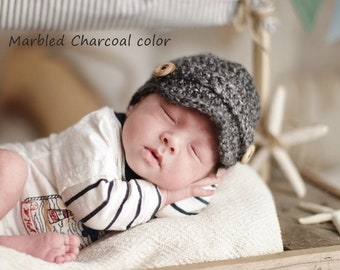 Baby Newsboy Hat, Newborn Newsboy Hat, Baby Boy Hat, Baby Boy Clothes, Baby Hat, Baby Boy Hat Crochet, Knit Hat Baby Boy, Newborn Photo Prop