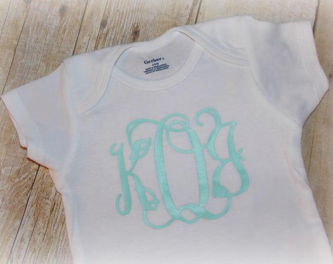 Monogrammed baby Gerber's ONESIE® - Personalized ONESIE® - Vinyl monogram - Baby girl shower gift - Personalized girl gift - monogram