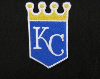 Embroidered Kansas City Royals Iron On Patch, Kansas City Royals, Iron On Patch, Iron On Applique, Baseball Patch, KC Royals