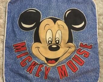 20% SALE Vintage 1980s Mickey Mouse Pillow Sham Cover Disney 80s Kids Pillowcase