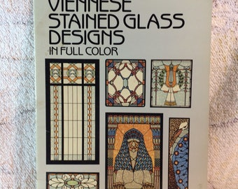Viennese Stained Glass Designs Book 1988 Dover Publications