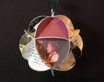 Bob Dylan Album Cover Ornament Made From Record Jackets - Folk Rock Music