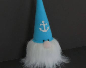Nautical Gnome, Seaside Gnome,  Gnome Doll