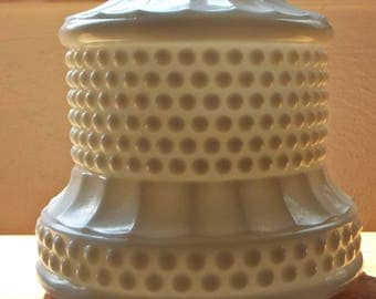 Vintage White Milk Glass Hobnail Lamp base replacement