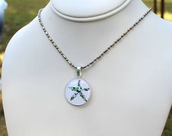 Starfish Sea Glass Round Necklace from the Beach Seaglass