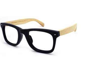 20% off SUMMER SALE TAKE Mjx1302 wayfarer handmade  acetate frame with bamboo arm glasses with prescription  lenses