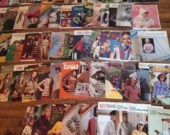 Vintage Knitting Columbia Minerva Magazines Leaflets 1960's 1970's 1980's